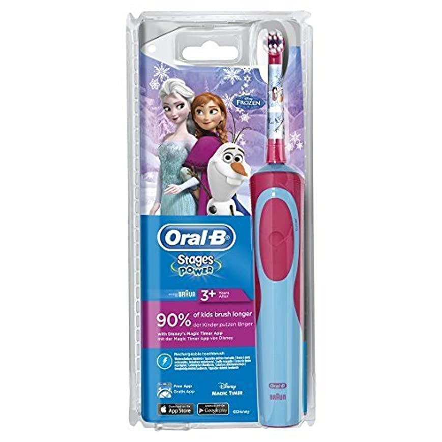 息を切らして決してホバーOral-B Stages Power Electric Toothbrush for Children 3 Years and + - Model : Frozen by Oral-B [並行輸入品]
