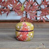 茶缶日本オリジナル輸入馬口錫抹茶缶鉄箱ティーボックス収納茶シーリングタンク-タオバオ-h