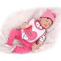 NPKDOLLシミュレーションRebornベビー人形ソフトSilicone 22インチ55 cmビニールLifelike Vivid Boy Girl Toyレッドハート目閉じ