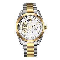 Rockyu ブランド 人気 時計 メンズ ホワイト 男性 ビジネス 防水 昼夜表示 ブランド マルチカラー メンズ腕時計