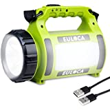 EULOCA Rechargeable Camping Lantern ,Super Bright Flashlight 5 Modes Lamp Dimmable LED Spotlight 2600mAh Power Bank 10W Outdo