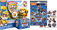 Paw Patrol Action Pack Pup & Badge - Rubble and Paw Patrol 25 Temporary Tattoos - Enjoyable Playing Toys for Kids &
