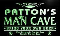 ネオンプレート サイン 電飾 看板 バー pb1382-g PATTON's Man Cave Cowboys Bar Neon Light Sign