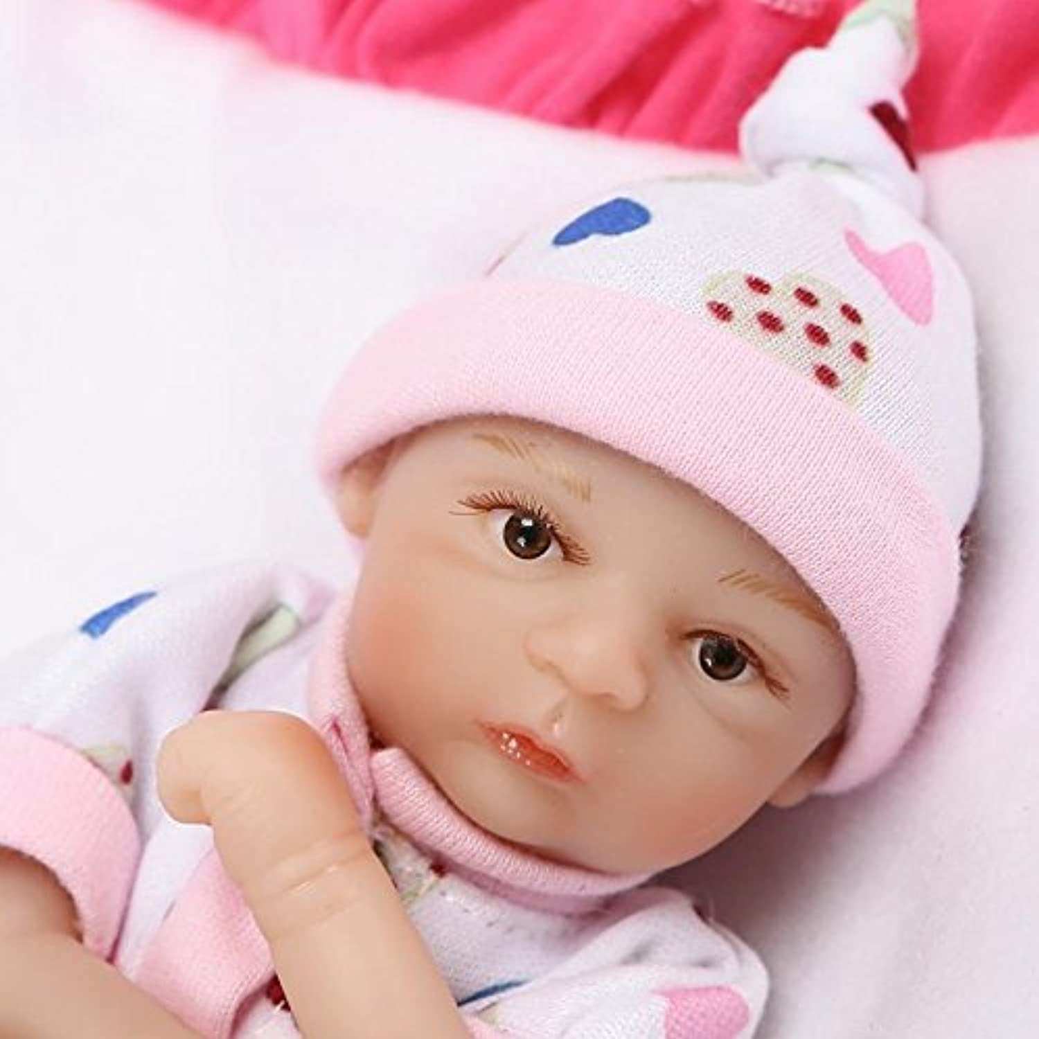 ピンキー20 cm 8インチソフトビニール人形シリコンSo Truely Lifelike LookingリアルNewborn Doll Baby Boy Eyes Opened Reborn Dolls Xmasギフト