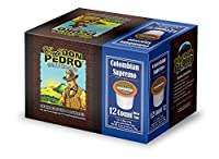 Cafe Don Pedro Colombian Supremo 72 Count Kcup Low-Acid Coffee