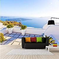 Lixiaoer カスタム写真壁紙3D地中海風景壁画リビングルームの寝室ロマンチックな家の装飾壁紙-280X200Cm