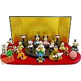 (特典・無撚糸タオル付)ディズニー段飾り15人セット 十五人飾り 雛人形・ひな人形 183118