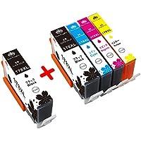 Toner Kingdom HP(ヒューレットパッカード)互換インクカートリッジ  HP178 XL 5本セット(2BK/C/M/Y)増量タイプ 対応機種:Photosmart C5380 C6380 D5460 5510 5515 6510 7510 B109a B109n B110a Plus B209a B210a Deskjet 3070A Premium C309g C309c Fax C309a C401C