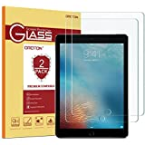 "[2 pack] iPad 9.7"" (2018 & 2017) / iPad Pro 9.7 / iPad Air 2 / iPad Air Screen Protector, OMOTON Tempered Glass Screen Protector – Ultra Clear / 2.5D Round Edge / Scratch Resistant"