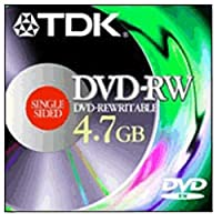 TDK DVD-RW メディア 4.7GB 書き換え可能 (1パック)