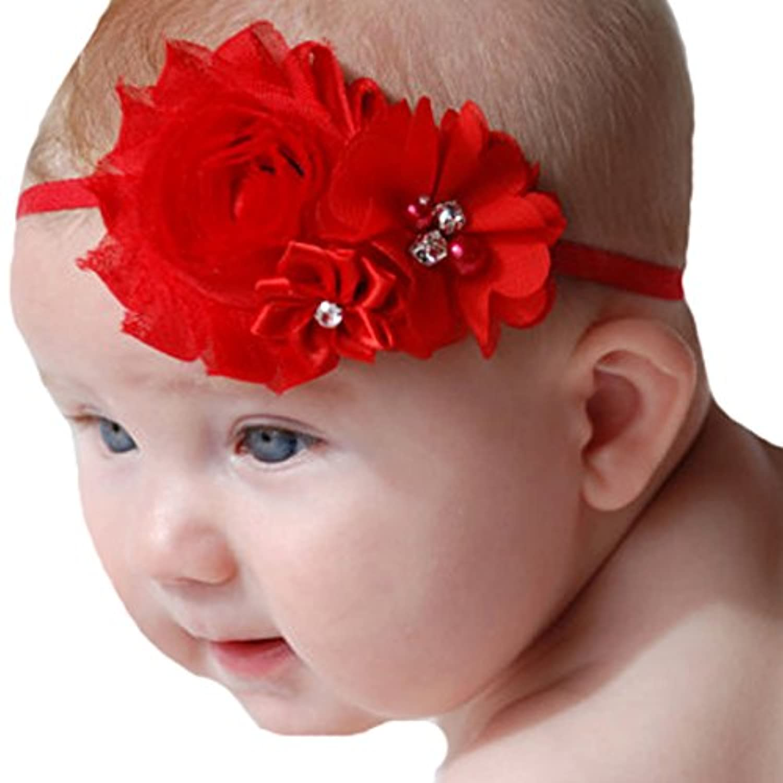 miugleベビーレッドヘッドバンドヘアリボン幼児用女の子ヘアバンドハードウェア