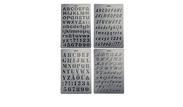 bilipala plastic number and letter stencils templates set for painting and crafts set of 4 4336892433 christmas gifts 2018