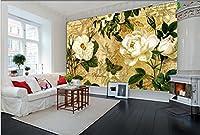 Bzbhart カスタム3D壁画、ヨーロッパスタイルのレトロな郷愁、リビングルームのソファーテレビの壁の寝室の壁紙-200cmx140cm
