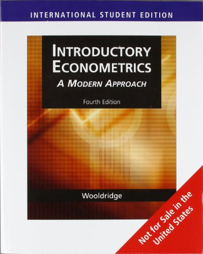 Introductory Econometrics: A Modern Approachの詳細を見る