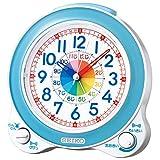 セイコークロック 置き時計 01:青 本体サイズ: 13.4×13.0×8.7cm 目覚まし時計 知育 アナログ BC410L