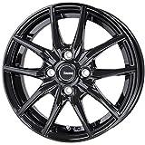 HOT STUFF(ホットスタッフ)G、speed (ジースピード)G-02 アルミホイール4本セット 14インチ4.5J INSET45 PCD100 HOLE4 カラー:メタリックブラック