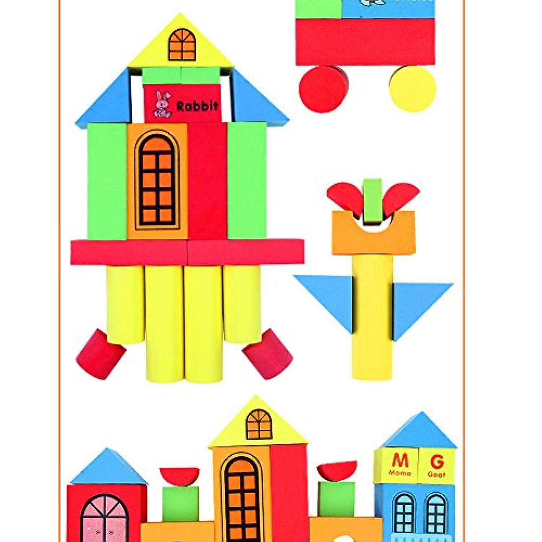 ETbotu カラフルビルディングブロック ソフトEVAフォームブロック 子供用 教育玩具 男の子 女の子用 29pcs zhangtingting-20181008-YZZ-12