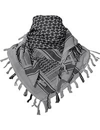 TACVASEN タクティカル アラブスカーフ ミリタリー アフガンストール サバゲー チェック柄 マフラー コットン 男女兼用