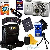 Canon PowerShot ELPH 180デジタルカメラW /画像安定とスマート自動モード–インターナショナルバージョン+アクセサリキットW/HeroFiberクリーニングクロス
