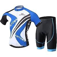 LSERVER 半袖 サイクルジャージ 上下セット 自転車ウェア 吸汗 速乾 通気 メンズ 3D立体 サイクルウェア シャツ ロードバイクウェア サイクルレーサー・サイクリングウェア 春夏 男性用