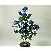 ばら(バラ・薔薇)1本立 青(ブルー)光触媒とアミノ酸のダブルコーティング 消臭力と抗菌力を発揮するアートフラワー(造花)