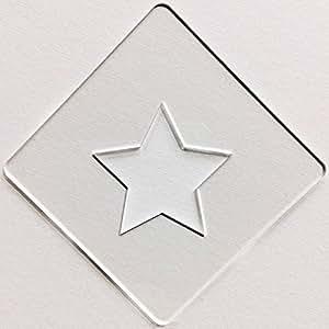 カフェアートステンシル 星 LAS-0002 ラテアートが簡単に作れる!デコレーションに最適!