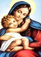 長方形冷蔵庫マグネット–セントメアリーイエスの母W /赤ちゃんイエスキリスト