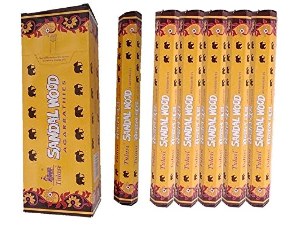 メロン誇張するちょうつがいTulasi(トゥラシ) /お香スティック/サンダルウッド/1ケース(1箱20本×6箱)