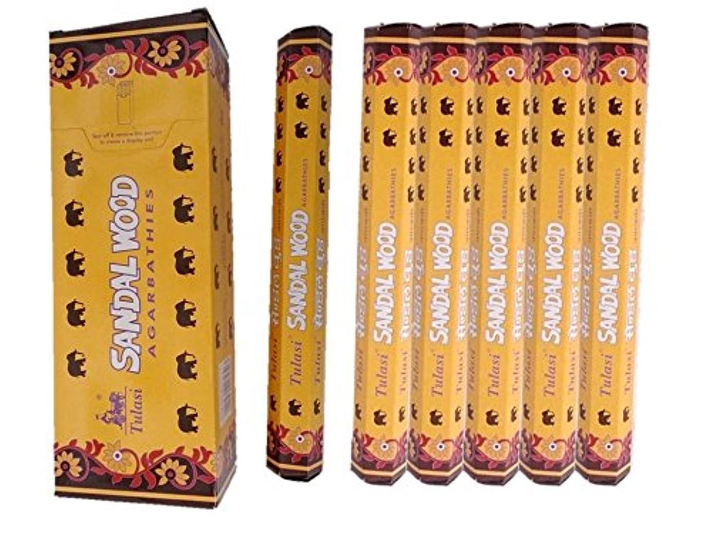 魅惑的なリラックス規制Tulasi(トゥラシ) /お香スティック/サンダルウッド/1ケース(1箱20本×6箱)