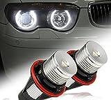 新発売! BMW イカリング LEDバルブ 6000k 10Wホワイト E39/E60/E61/E63/エンジェルアイ E64 E65 E66 E87 E53 X5