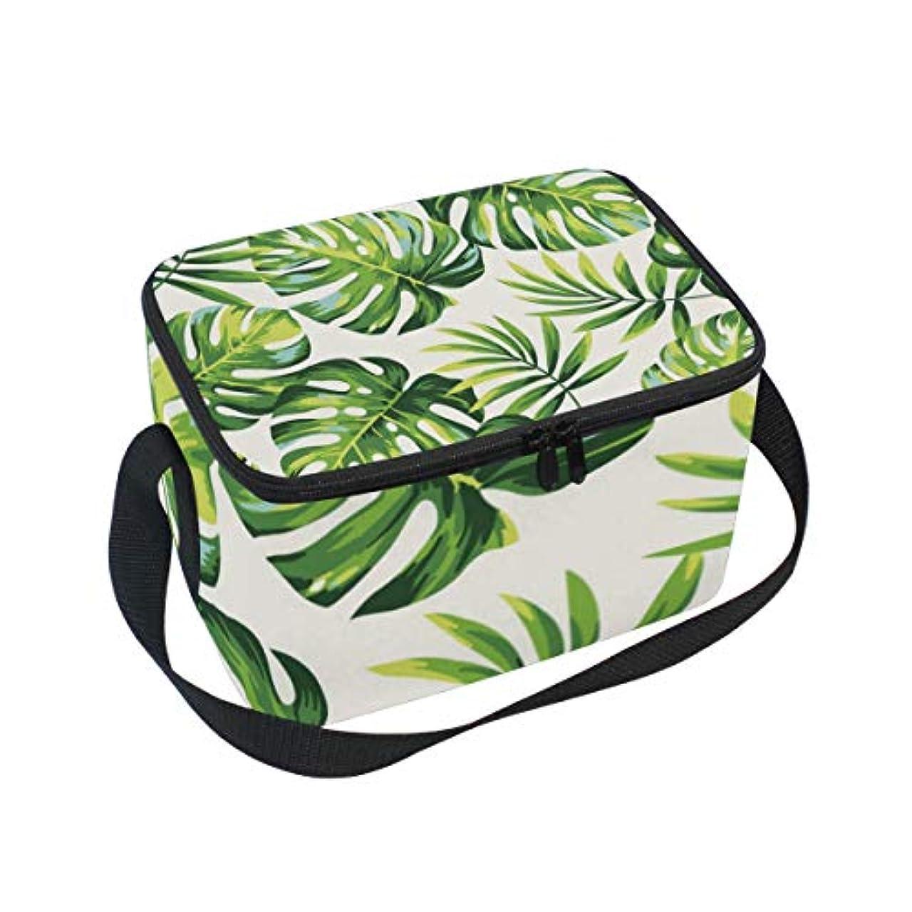開発共和国うがいクーラーバッグ クーラーボックス ソフトクーラ 冷蔵ボックス キャンプ用品 木ノ葉柄 緑 水彩絵 保冷保温 大容量 肩掛け お花見 アウトドア