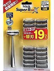 schick シック Super II PLUS X スーパIプラスX 本体+替刃19個 セット