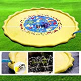 子供 プール プレイマット ウォーター プレイ アウトドア 芝生遊び 水 夏の日 子供用 おもちゃ 噴水マット ふんすい 庭 家庭用 キッズ 水遊び 噴水池 噴水できる大型プール 3# 画像