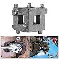 車のリアディスクブレーキ ピストンリトラクターツール ディスクブレーキピストンツール バックキューブキャリパーアダプター シルバー