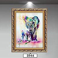 アートパネル 壁飾り 壁掛けキャンバス 象の垂直壁画壁画リビングルームアメリカの油絵絵画S944装飾 Yingkou (Size : 40x50cm)