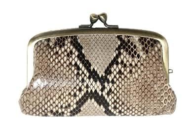 本革 蛇革 パイソン ニシキヘビ 財布 がま口 日本製