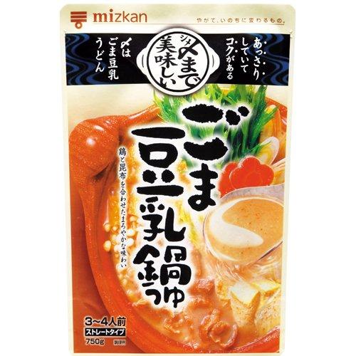 ミツカン 〆まで美味しいごま豆乳鍋つゆストレート 750g