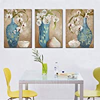 Colourful GWP - 0012 Vase Pattern Canvas Painting 3PCS