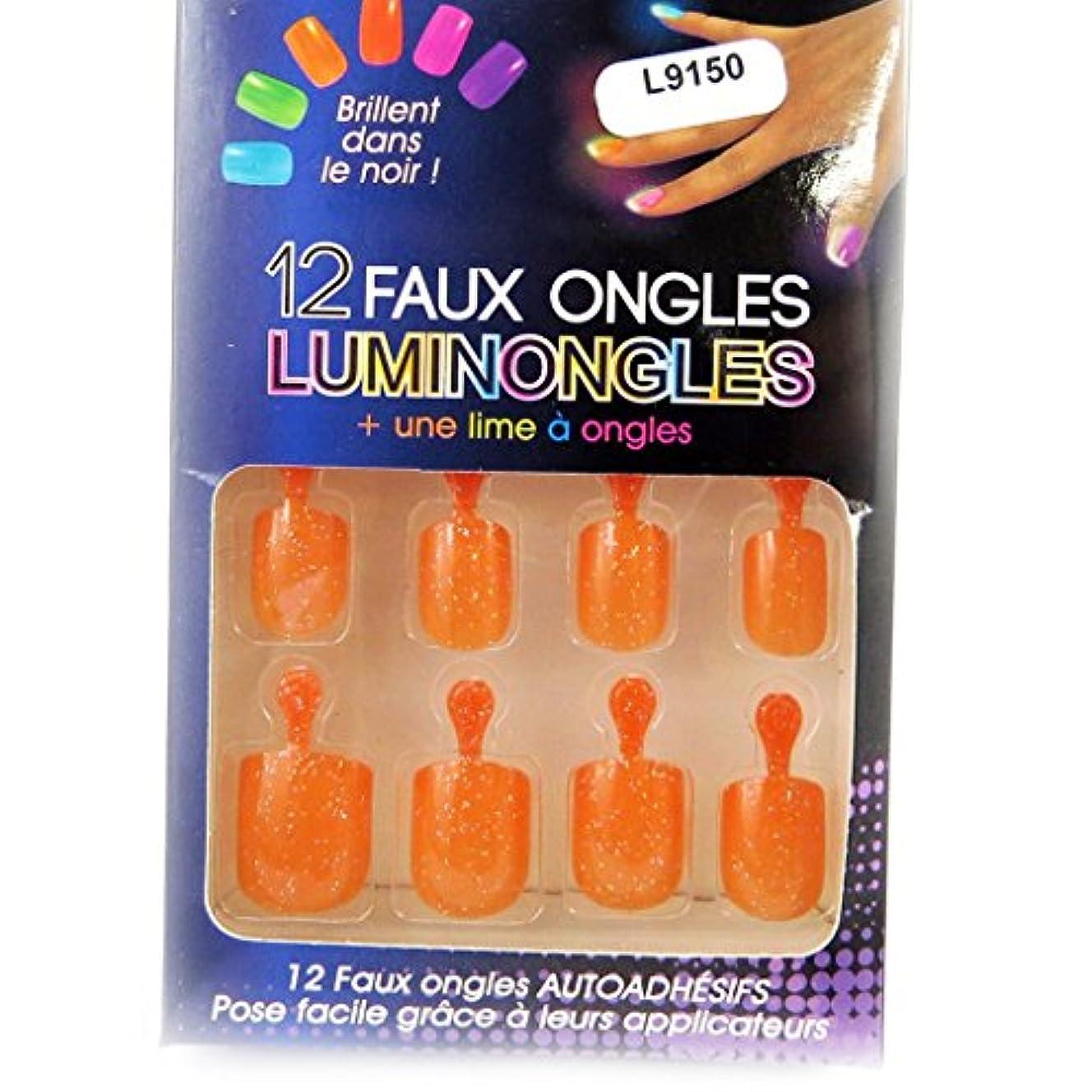 テープ年齢うれしい[リリーの宝 (Les Tresors De Lily)] (Luminongles コレクション) [L9150] アクリルスカルプチュア オレンジ