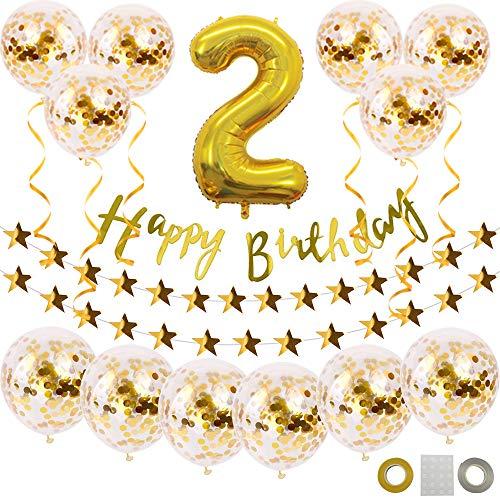 RoomClip商品情報 - YANX 誕生日 飾り付け セット ゴールド HAPPY BIRTHDAY 装飾 誕生 バルーン ガーランド きらきら風船飾り 華やか 新型 バースデー デコレーション 子供 大人