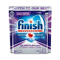 Finish Quantum Max Shine and Protect Dishwasher Detergent Tablets, Fresh Scent, 64 Count [並行輸入品]