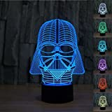 Padaday Star War Darth Vader 3D Optical Illusion Desk Table Light Lamp [並行輸入品]