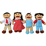 Asian Family Puppet Set