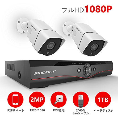 セキュリティ防犯カメラシステム SMONET POE給電監視...