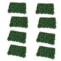 Fenteer 高級人工芝 緑 現実的 人工芝生 草ラグ 景観 壁 生き生き 装飾 マット 8枚