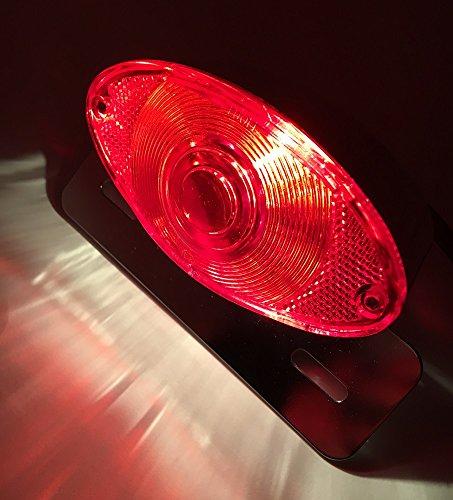 スズキ 用 LED テール ランプ ウインカー スモール ブレーキ ライト ライセンス ナンバー 灯 ステー 付き GN125 GS125 等 ブラック シルバー 社外品 (シルバーメッキ)