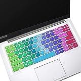 "Keyboard Cover for 14"" Lenovo Yoga C940, Lenovo Yoga C740 14 Laptop Keyboard Cover, ThinkBook 14s & 13s Laptop Keyboard Cover Protective Skin, Rainbow (NOT for 15.6"" Lenovo Yoga C740 C940)"