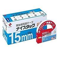 -まとめ-・ニチバン・ナイスタック・再生紙両面テープ・ブンボックス・大巻・15mm×20m・NWBB-15・1パック-10巻-・-×2セット-