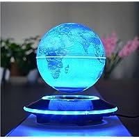 6 inch 磁気浮上 地球儀 浮遊・回転型の地球儀 球体はLEDライト付き 回転しながら光の色が変わるGLO06R80