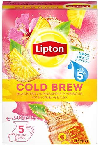 リプトン コールドブリュー パイナップル&ハイビスカスティー ピローバッグ 1袋(5パック入) ×3箱 ティーバッグ